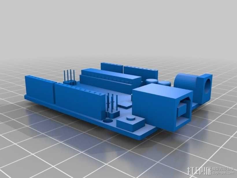 Arduino Uno电路板 3D模型  图2