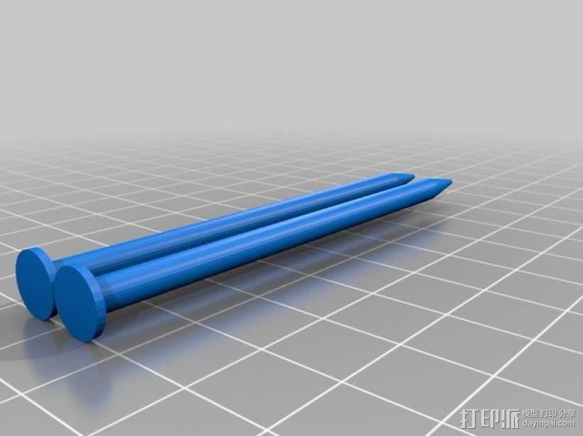 定制化编织针 3D模型  图1