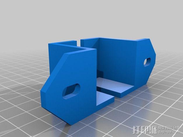 8孔路由器小盒 固定架 3D模型  图3