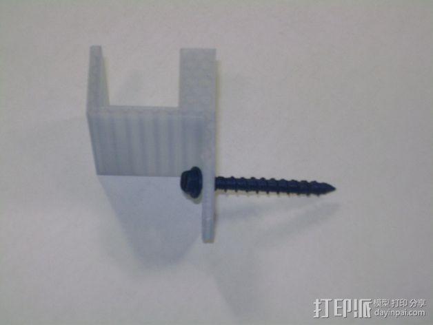 8孔路由器小盒 固定架 3D模型  图6