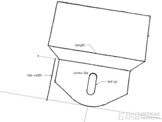8孔路由器小盒 固定架 3D模型  图5