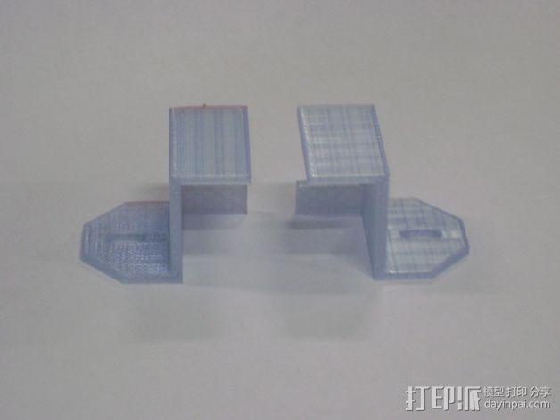 8孔路由器小盒 固定架 3D模型  图7
