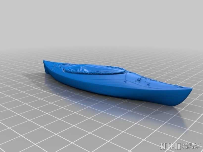 皮艇 3D模型  图1