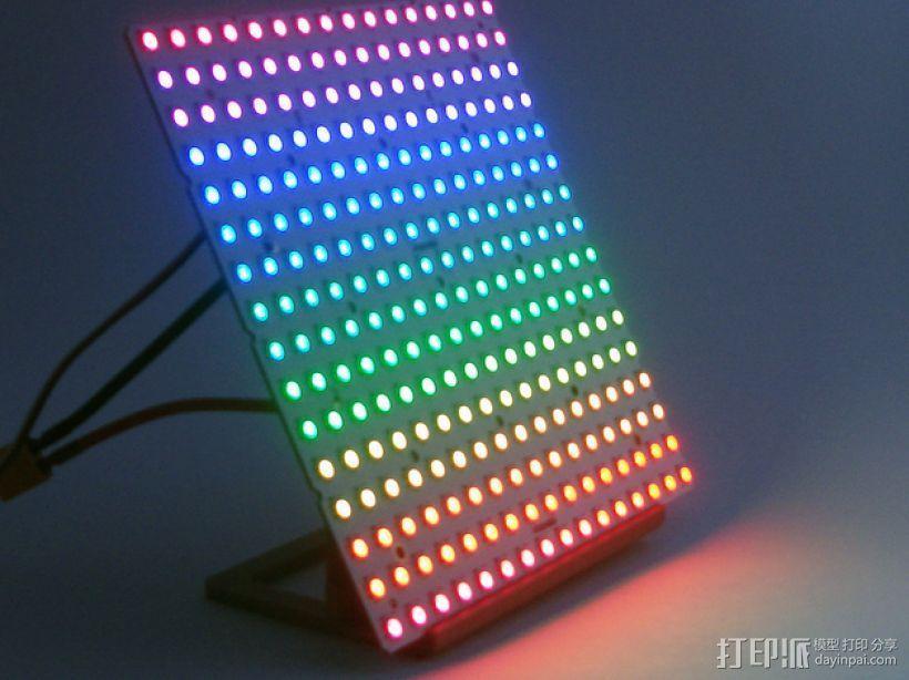 矩形LED彩灯底板 3D模型  图1