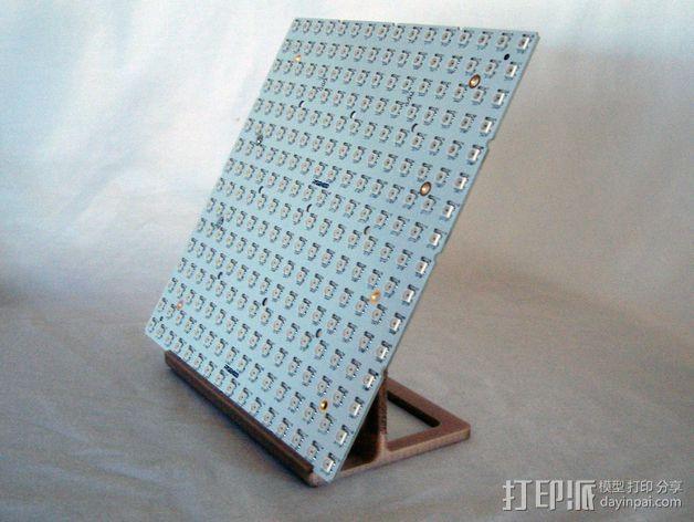 矩形LED彩灯底板 3D模型  图2
