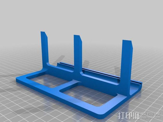矩形LED彩灯底板 3D模型  图3