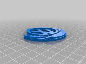 大众汽车 钥匙扣 3D模型