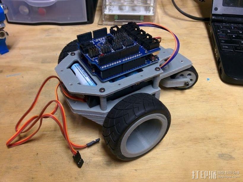 Arduino机器人底盘 3D模型  图1