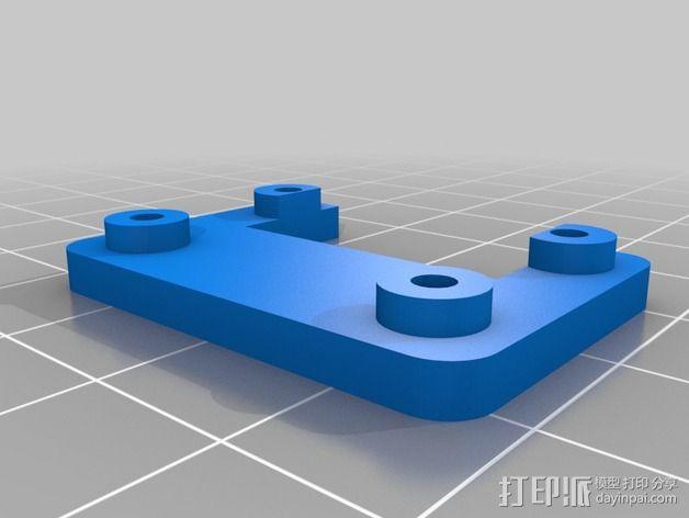 Arduino机器人底盘 3D模型  图2