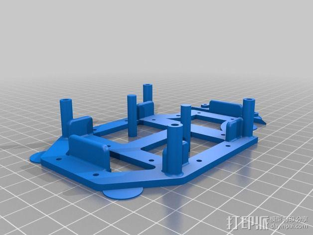 Arduino机器人底盘 3D模型  图6