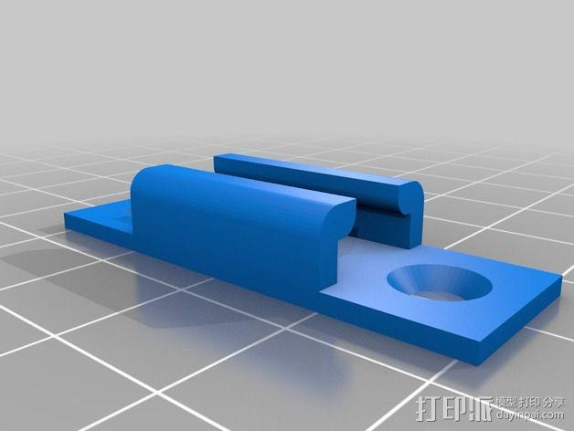 LED彩条底板 3D模型  图1
