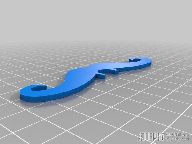 小胡子 3D模型  图2