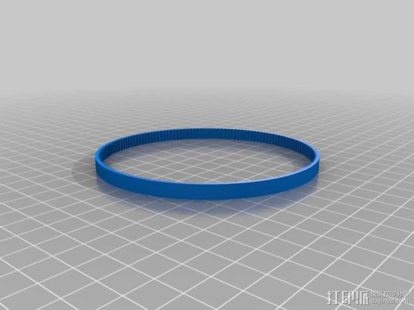 GT2正时皮带 3D模型  图1
