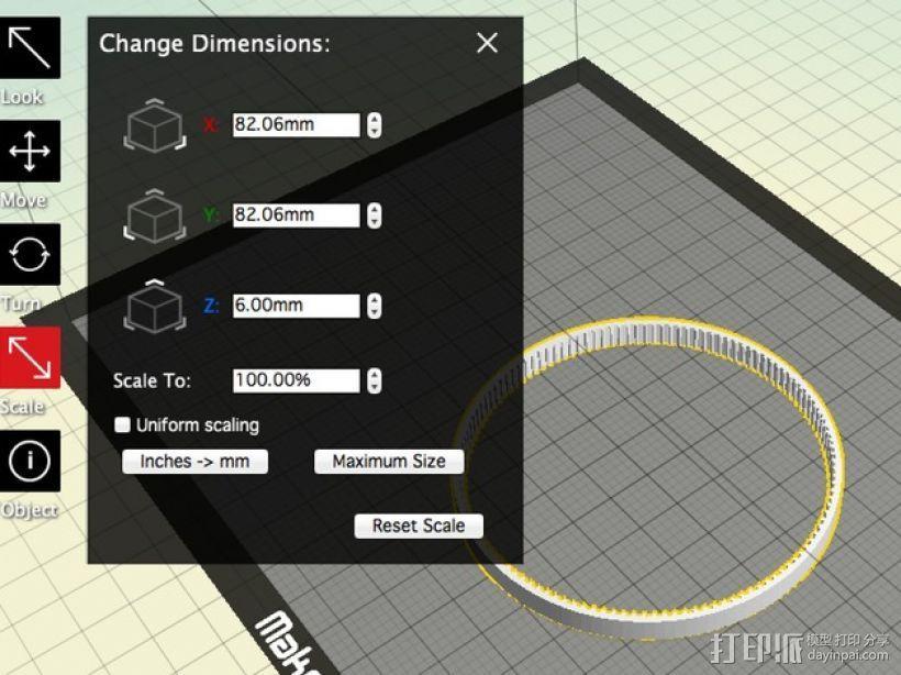 GT2正时皮带 3D模型  图4
