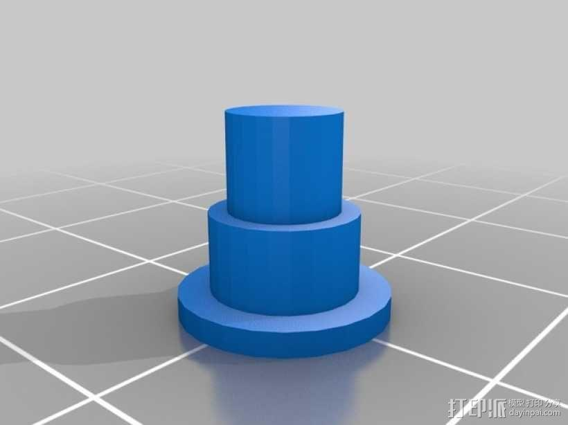 Fatshark相机支架 3D模型  图4