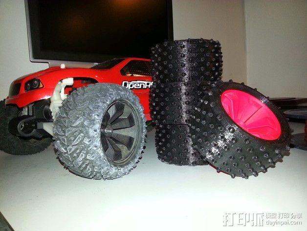越野卡车轮胎 3D模型  图3