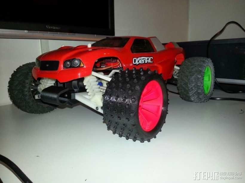 越野卡车轮胎 3D模型  图1