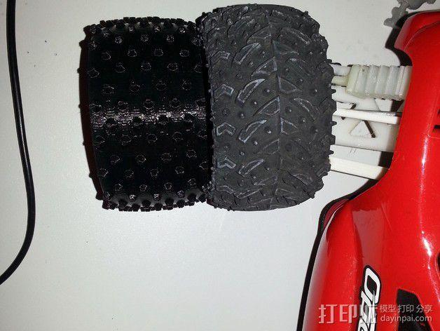 越野卡车轮胎 3D模型  图2
