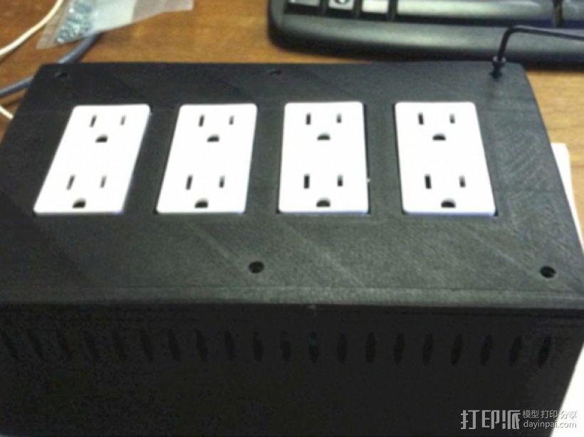 电源板 3D模型  图1