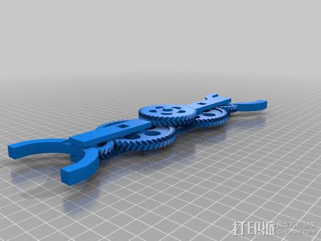 轮式机器人转向系统 3D模型  图2