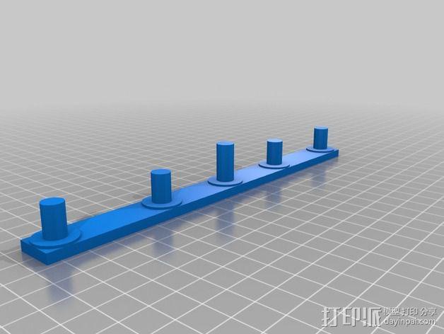 轮式机器人转向系统 3D模型  图3