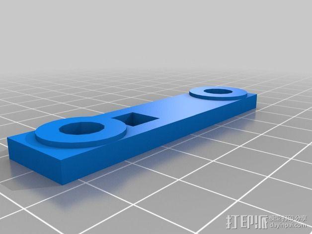 轮式机器人转向系统 3D模型  图4