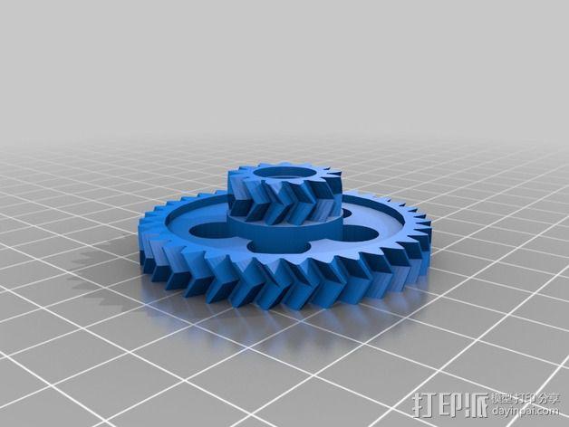 轮式机器人转向系统 3D模型  图5
