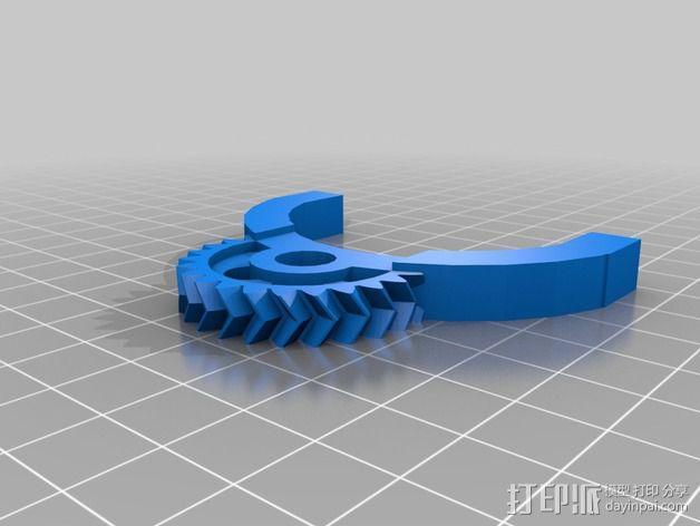 轮式机器人转向系统 3D模型  图7
