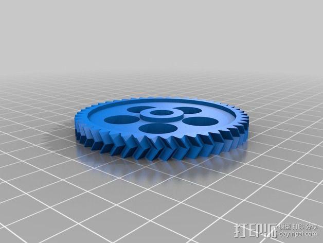 轮式机器人转向系统 3D模型  图6