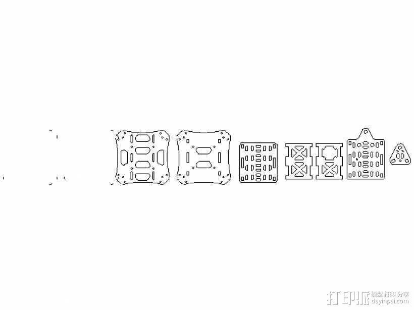 四轴飞行器框架 3D模型  图11