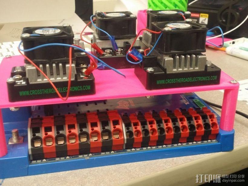 电源分配板支架 3D模型  图1