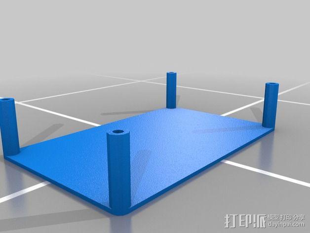 电源分配板支架 3D模型  图2