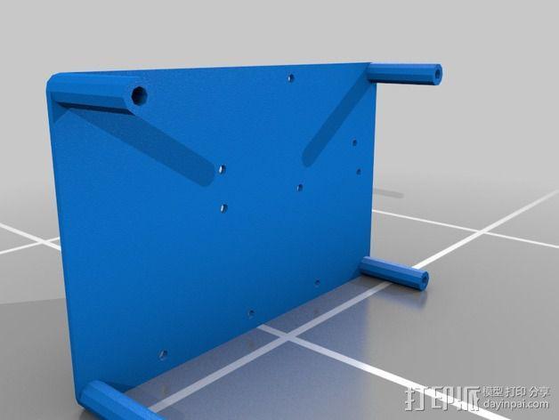 电源分配板支架 3D模型  图4