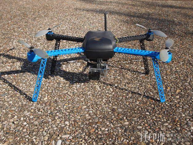 IRIS四轴飞行器支架 3D模型  图4