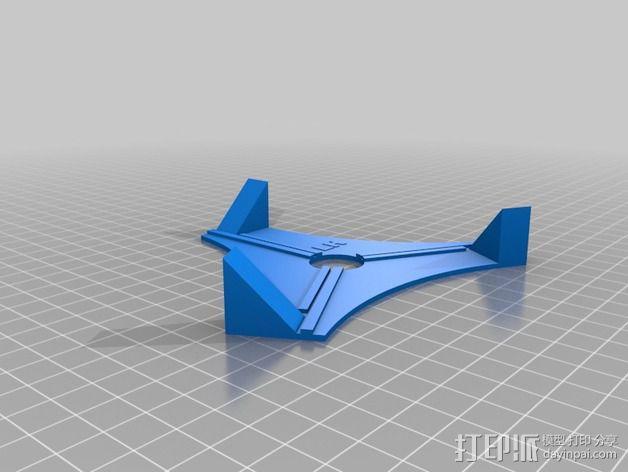 苜蓿叶形天线 夹具 3D模型  图2