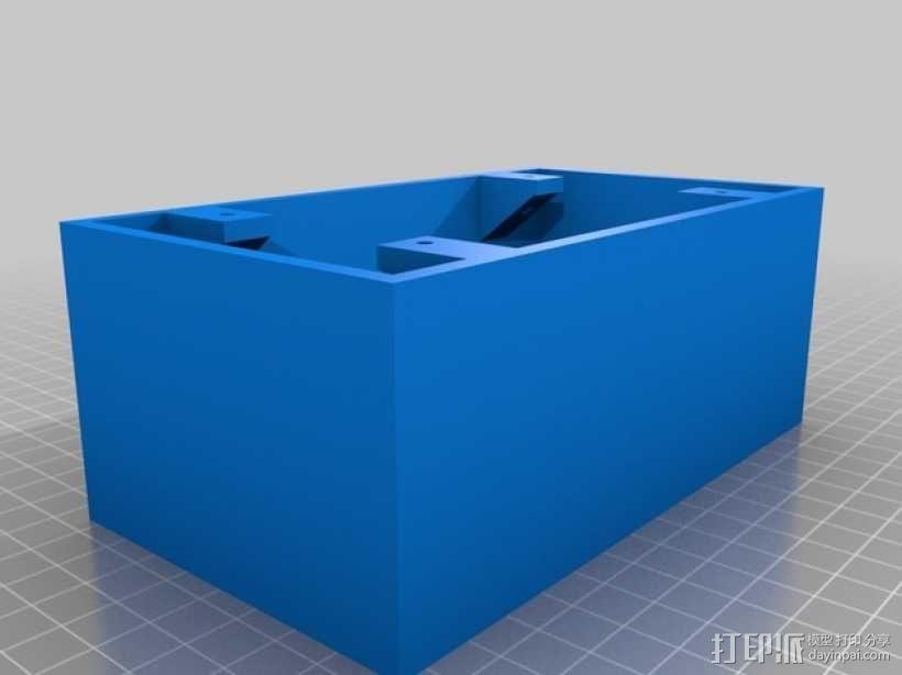 香蕉插座 面板 3D模型  图2