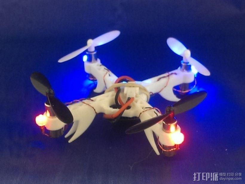 Hubsan X4迷你四轴飞行器框架 3D模型  图3