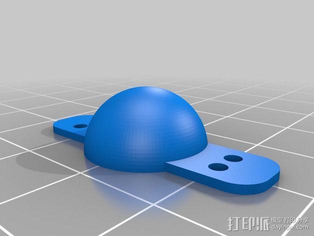 LED照明彩条盖帽 3D模型  图3
