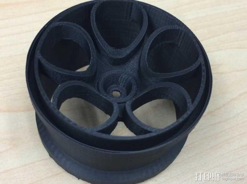 遥控越野赛车轮胎 3D模型  图1