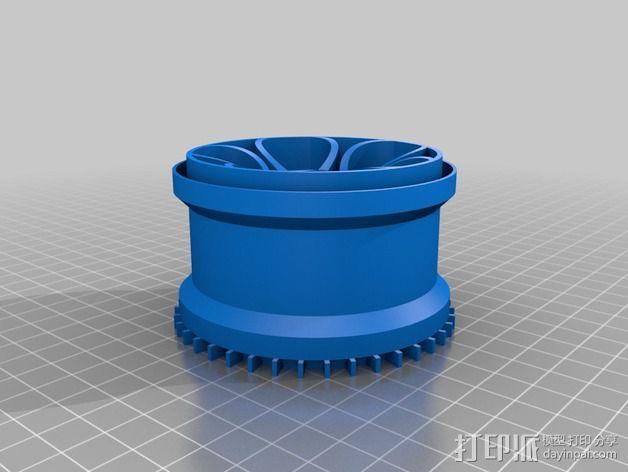 遥控越野赛车轮胎 3D模型  图2