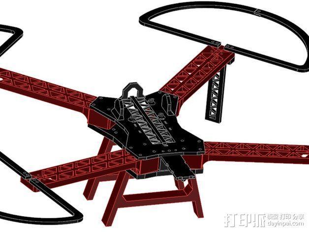 """""""无畏号""""四轴飞行器 3D模型  图1"""