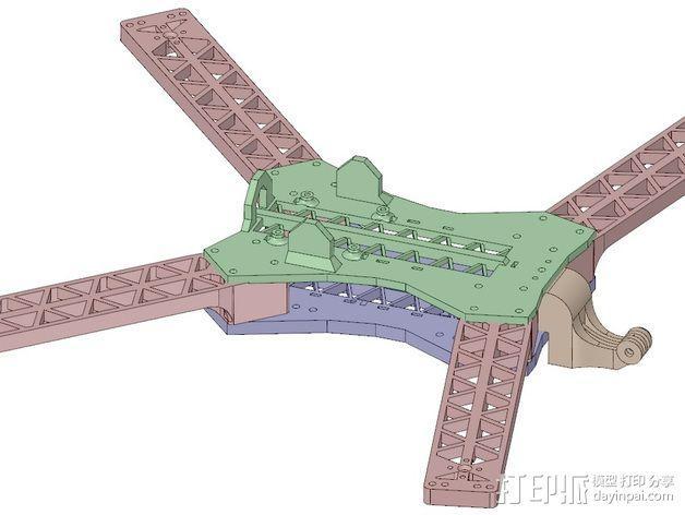 """""""无畏号""""四轴飞行器 3D模型  图13"""