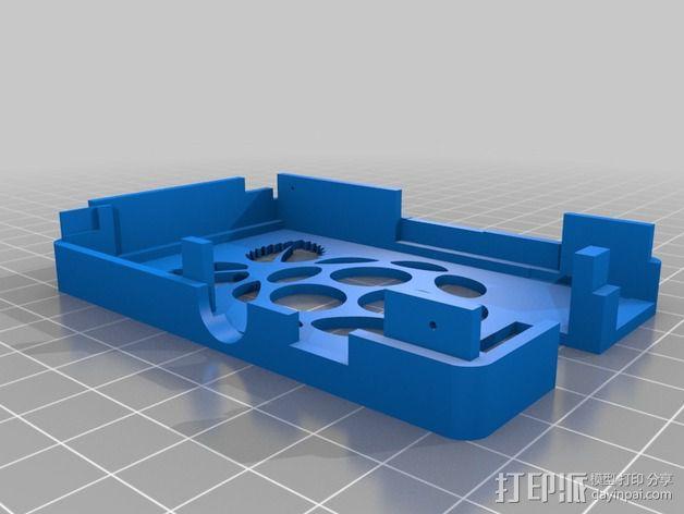 树莓派保护壳 3D模型  图4