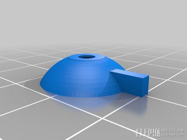 树莓派相机聚焦环 3D模型  图2