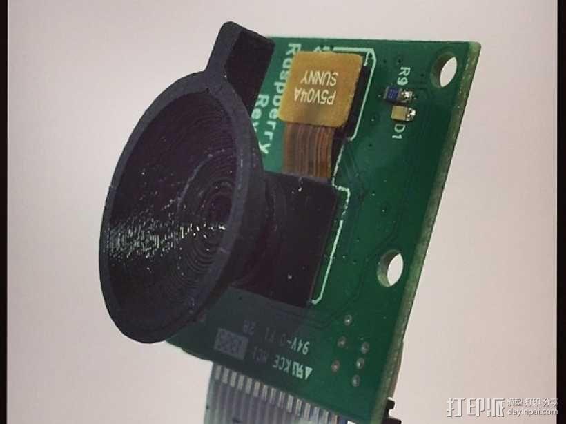 树莓派相机聚焦环 3D模型  图1