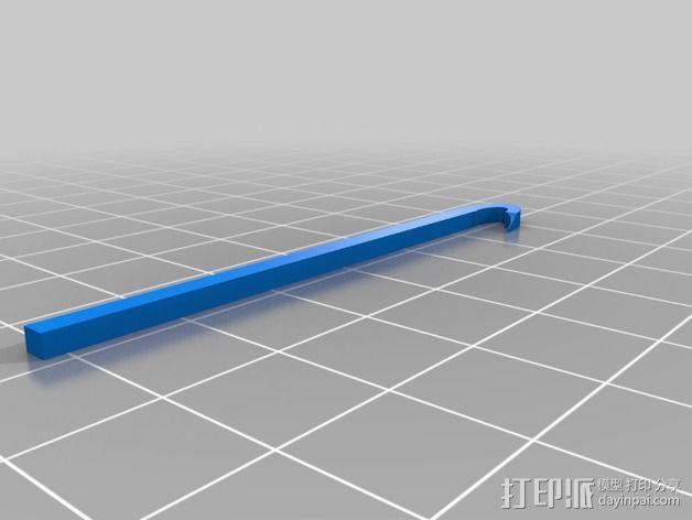 橡皮手环 挂钩 3D模型  图2