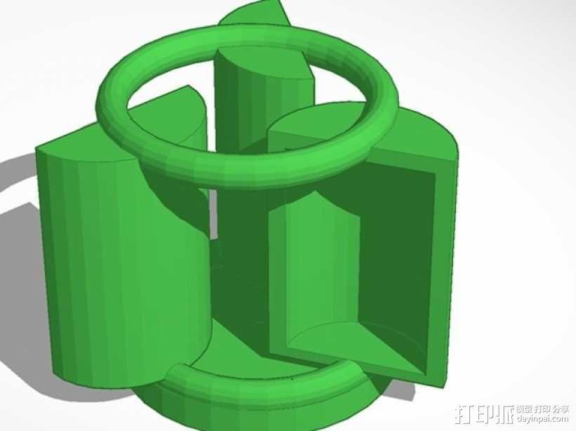 垂直风力涡轮机 3D模型  图2