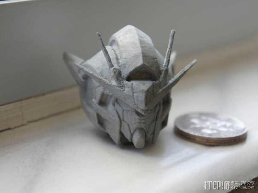 高达00 Raiser机器人头部 3D模型  图3