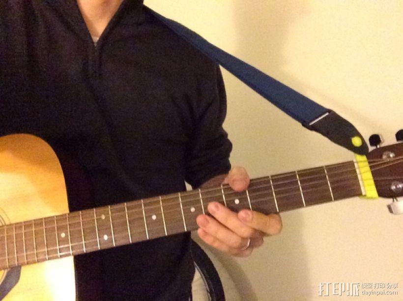 吉他背带夹 3D模型  图1