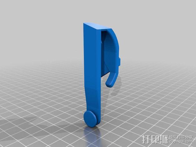 吉他背带夹 3D模型  图2